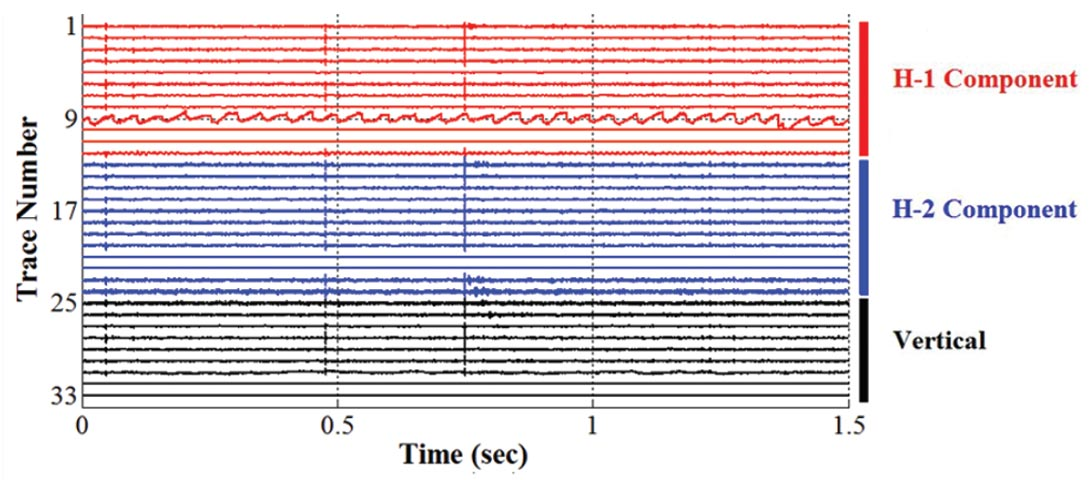 Tuned response of a clamped geophone array