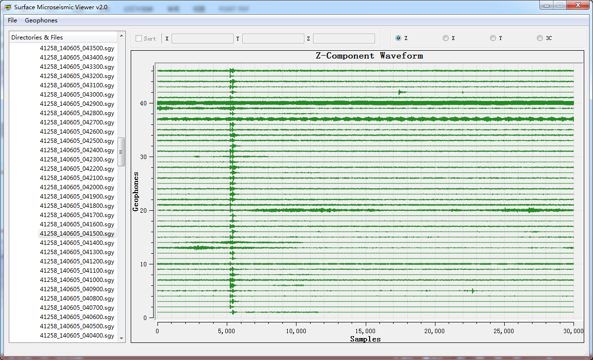 Typical surface detected microseismic event(Z component displayed only)